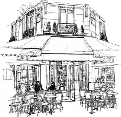 Fototapeta stare cafe w Paryżu