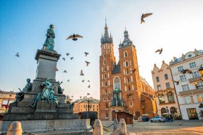 Fototapeta Stare centrum Widok w Krakowie