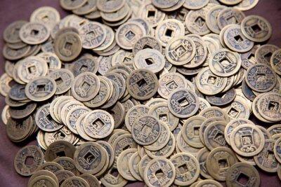 Fototapeta Stare chińskie monety