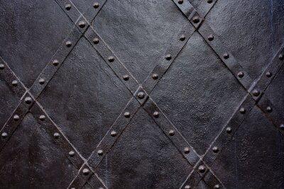 Fototapeta Stare drzwi czarny żelaza, tekstury, tapety, wzór