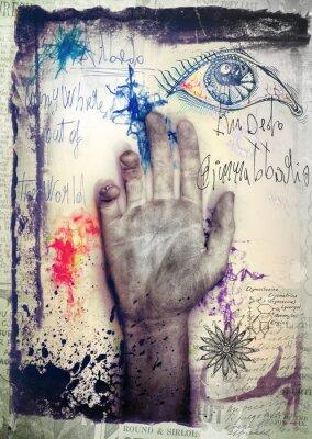 Fototapeta Stare graffiti background ręką