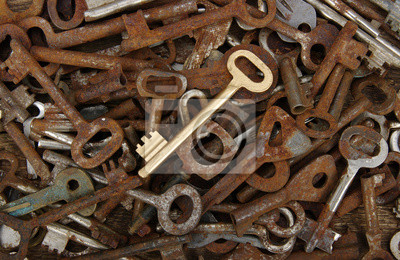 Fototapeta stare klucze