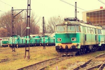 Fototapeta Stare lokomotywy