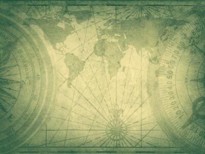 Stare mapy świata. Elementy tego obrazu Umeblowane przez NASA.