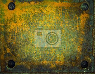 Stare metalowe powierzchnie z rdzy i farby