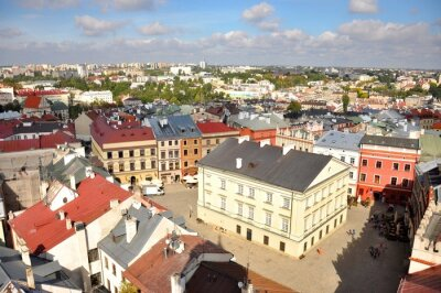 Fototapeta Stare Miasto, Lublin, Widok z lotu ptaka