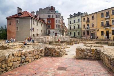 Fototapeta Stare miasto w centrum Lublina