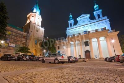Fototapeta Stare miasto w centrum Lublina w nocy