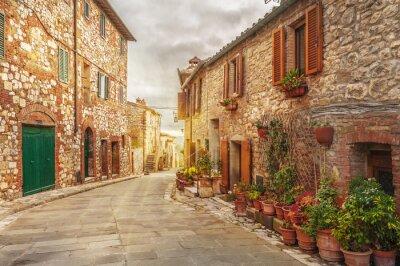 Fototapeta Stare miasto w kolorowe włoski Toskanii