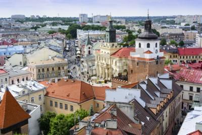 Fototapeta Stare Miasto w Lublinie - widok z lotu ptaka