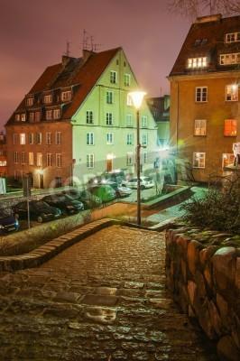 Fototapeta Stare Miasto w nocy Warszawie