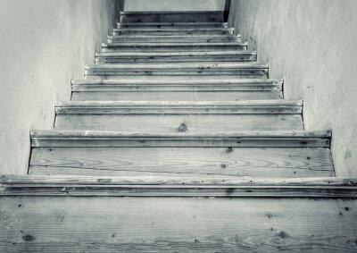 Fototapeta Stare schody na strych