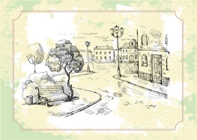 Fototapeta Stare tło ulica