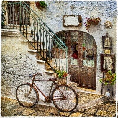Fototapeta stare uliczki Włoch, artystyczne zdjęcia archiwalne