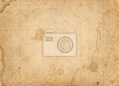 stare żeglarskie skarb mapa tle