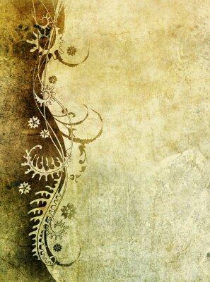 Fototapeta starego papieru z wzorem kwiatowym