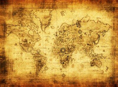 Fototapeta Starożytna mapa świata