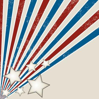 Fototapeta Stars and Stripes Grunge Design