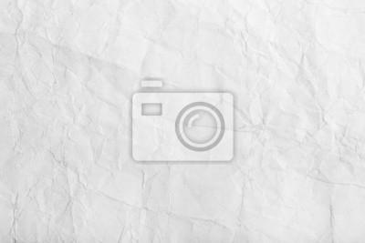 Fototapeta Stary biały zmięty arkusz papieru tekstury tła
