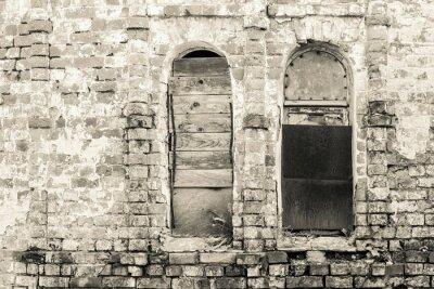 Fototapeta stary ceglany mur z tonu monochromatycznym