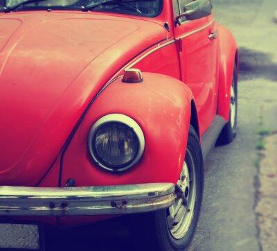Fototapeta Stary czerwony samochód z bliska