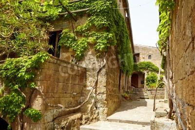 Fototapeta Stary Kamień średniowieczna ulica w historii miasta, Włochy