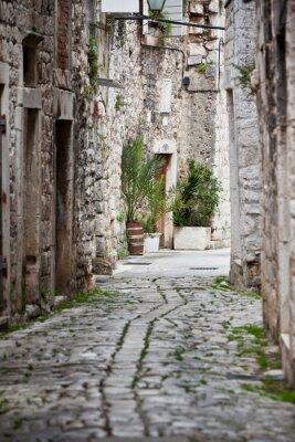 Fototapeta Stary kamienny Ulice Trogir, Chorwacja
