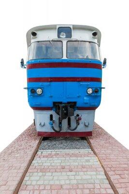 Fototapeta stary niebieski lokomotywa