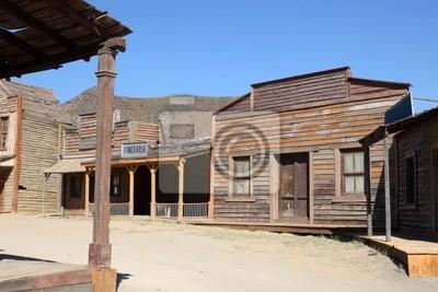 d4e57a86b Fototapeta Stary styl amerykański western town na wymiar • historia ...