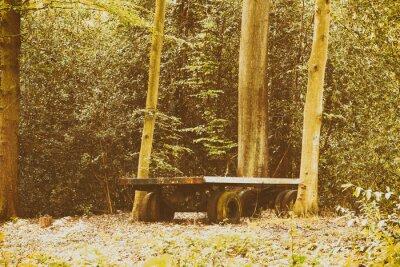 Fototapeta Stary trailer abandond pozostawione w lesie
