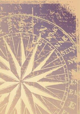 Fototapeta stary wektor kompas