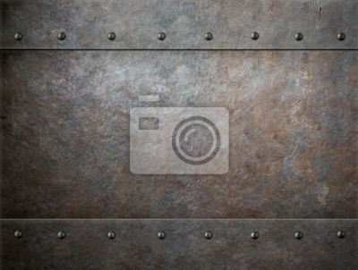 Fototapeta stary zardzewiały metal tle