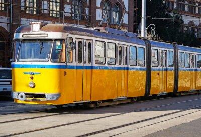 Fototapeta Stary żółty CityCar