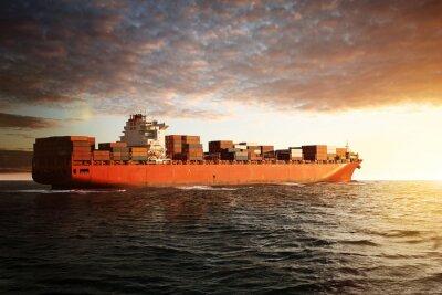 Fototapeta Statek towarowy