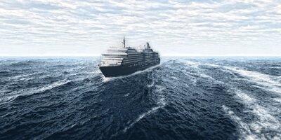 Fototapeta Statek wycieczkowy w burzy