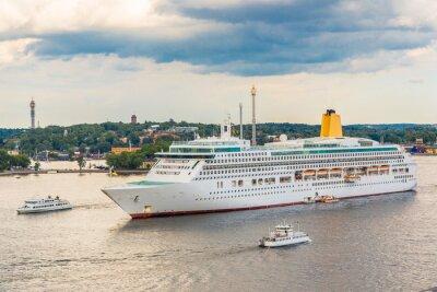 Fototapeta Statek wycieczkowy w Sztokholmie,
