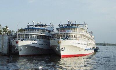 Fototapeta statek znajduje się w doku