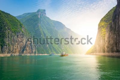 Fototapeta Statki na rzece Jangcy w Chinach