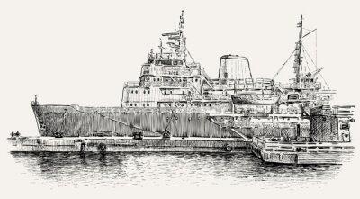 Fototapeta statków cumujących