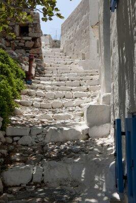 Fototapeta Steintreppe im Dorf auf der Insel Chora Astipalea, Dodekanez