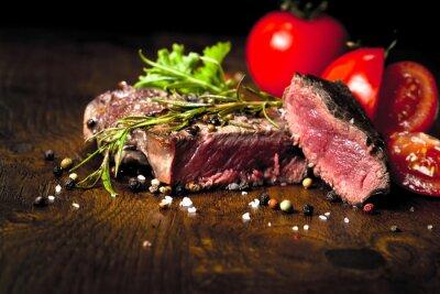 Fototapeta Stek Zubereitung