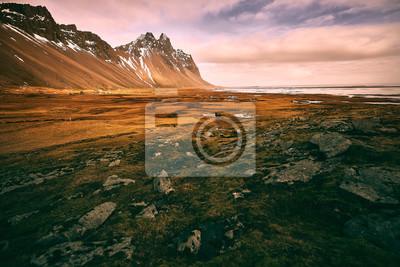 Stokksnes i Vestrahorn, Islandia