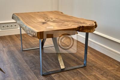 Fototapeta Stolik kawowy Elm. Obróbka drewna i produkcja stolarki. Produkcja mebli
