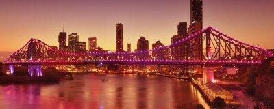 Fototapeta Story Bridge w Brisbane, QLD - Australia.