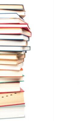 Fototapeta Stos książek na białym tle