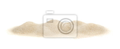 Fototapeta Stos piasku na białym tle.