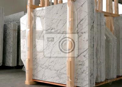 Fototapeta stos płyty marmurowej - fabryka przemysłu marmurowego