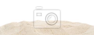 Fototapeta Stos suchy piasek odizolowywający na bielu.