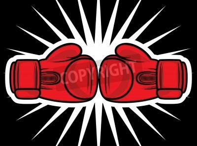Fototapeta Strajk rękawice bokserskie