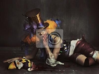 Straszny potwór clown